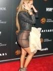 Adrienne Bailon No Panties in See-Through Dress Photos