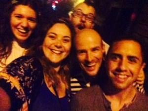 Amigos do Quinta: Eva, eu, Grant, Peter and Max.