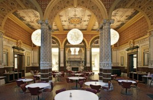 Sala de chá, no museu Victoria & Albert (V&A)
