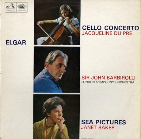 人気盤◉ HMV ASD655 – ジャクリーヌ・デュ・プレ、ジャネット・ベイカー、バルビローリ指揮ロンドン響◯エルガー・チェロ協奏曲、海の絵