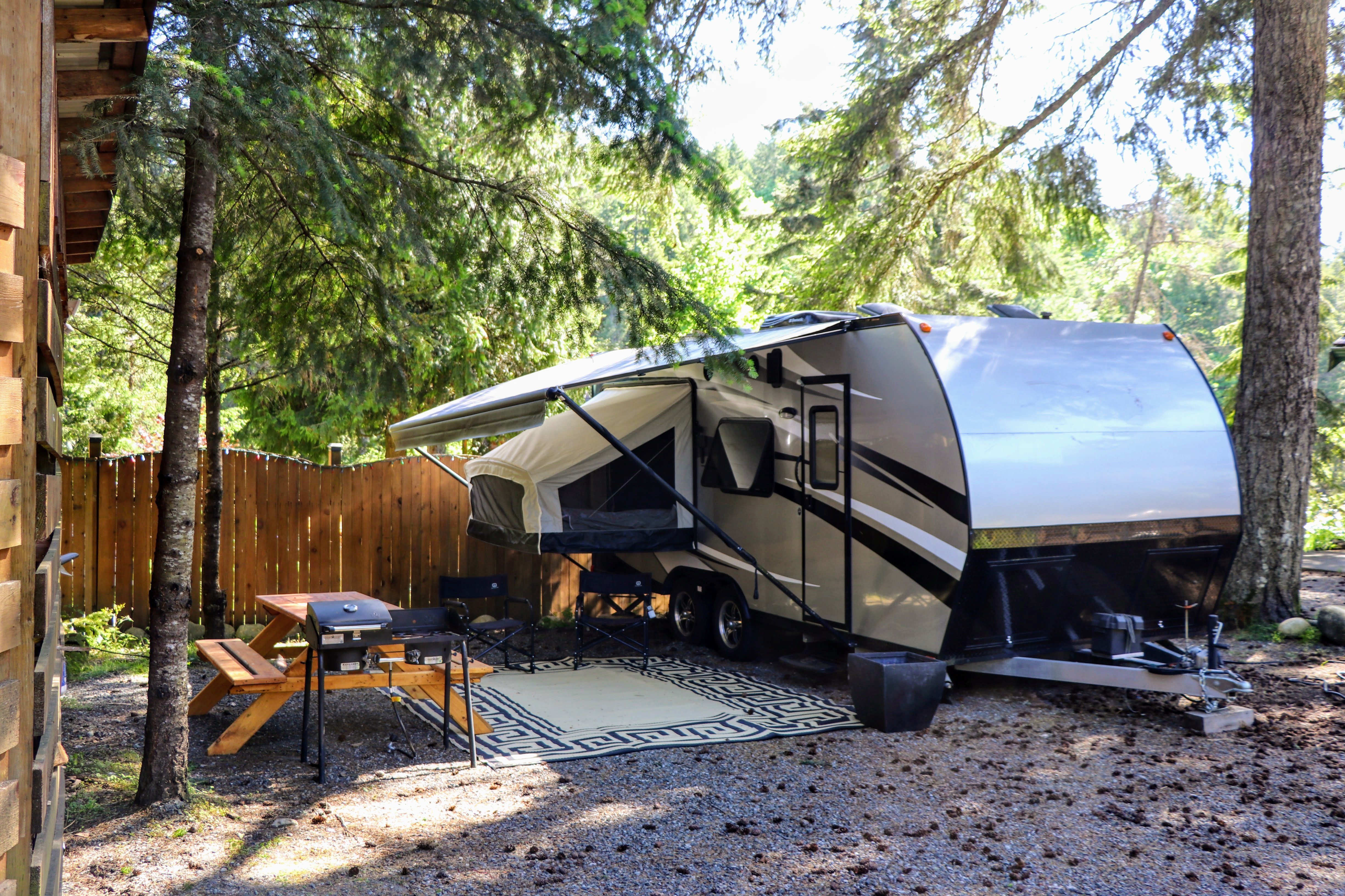 Camping   Riverside Vacation Rental Trailer Campsite