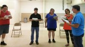 "Tallahatchie River Players rehearse ""The Unsalable Thing"" for presentation at Literary Fest 2016"