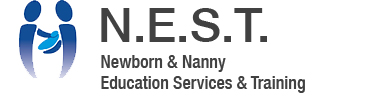 NEST Logo, Newborn and nanny education services