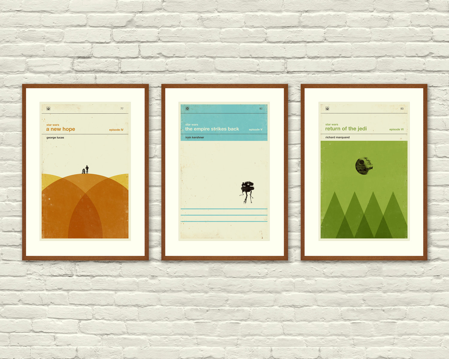 Star Wars Art Prints -£38.41 from EtsyFor a slightly different take on the Star Wars Trilogy why not try these minimal printsre-imaginingthe films aschildren'sbooks? These are almost stylish enough to not look nerdy at all. Almost.