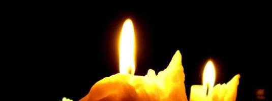 A dark candle