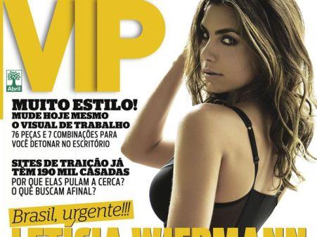 capa da Vip com a filha do datena que se chama Letícia Wiermann