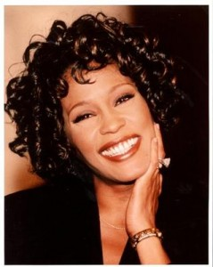 Foto da cantora Whitney Houston