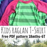 Free Raglan Shirt Pattern Kids 18mth-10Y