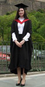 Samantha Murray at her graduation