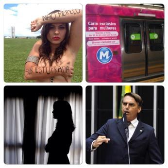 A pesquisa do IPEA e o movimento #nãomereçoserestuprada, assédio no metrô e vagão rosa, denúncias de estupro na USP, mais chorume do Bolsonaro
