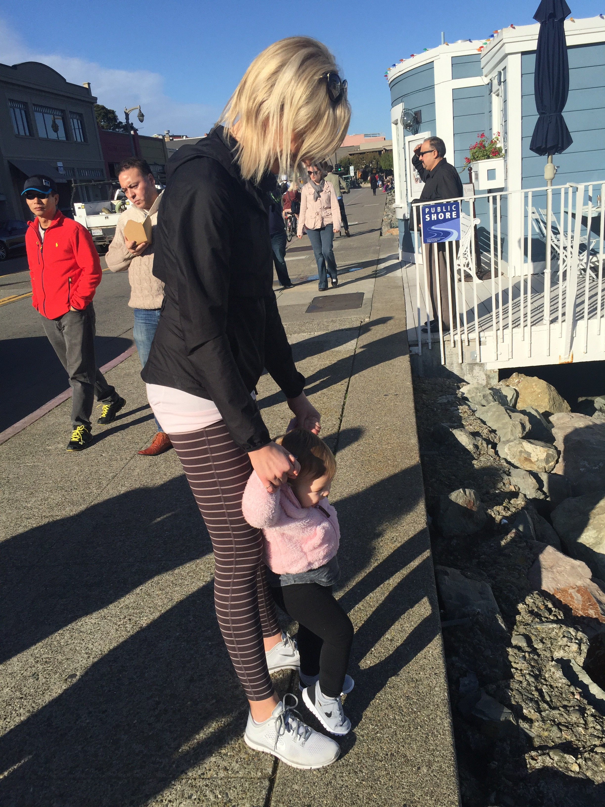 Me and Kallie looking at the seals at Sausalito