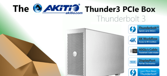 the-akitio-thunderbolt-3-pcie-expansion-thunder3-chassis-unboxing-t3pb-t3dis-aktu