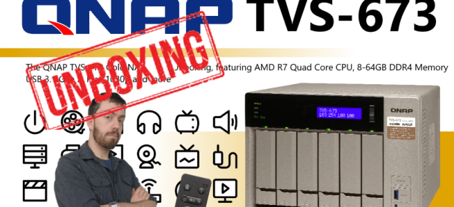 QNAP TVS-473 TVS-673 TVS-873 4K NAS for Plex Surveillance Transcoding Mac and Windows with DAS NAS