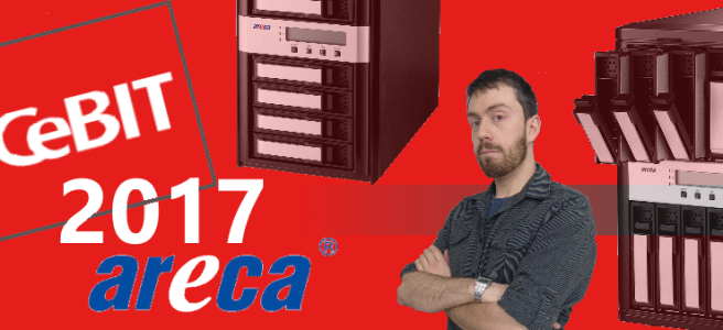 cebit 2017 for areca Thunderbolt and SAS