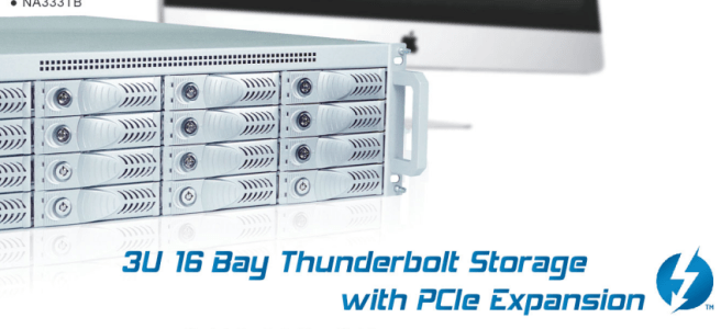 The Netstor NA333TB3 3U 16 bay Thunderbolt3 Storage and PCIe Expansion for Mac and Windows 5