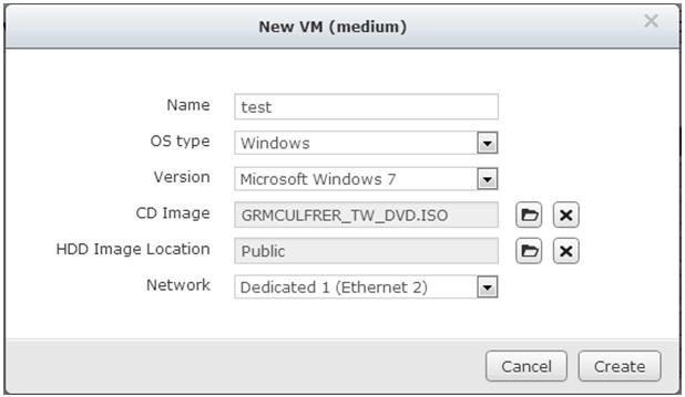 QNAP NAS VM Create 5