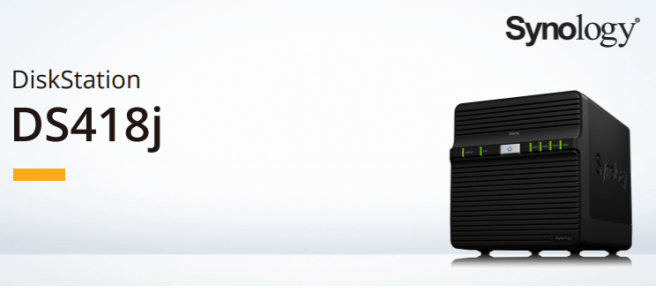 The Synology DS418J 4-Bay Cost effective Desktop NAS 1