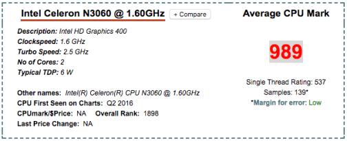 Intel Celeron N3060 DS216+II CPU