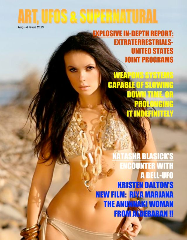 ART UFOs & SUPERNATURAL Natasha Blasick cover story