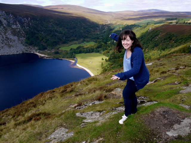But pretty places help too! Typically, here I am falling over in Ireland.