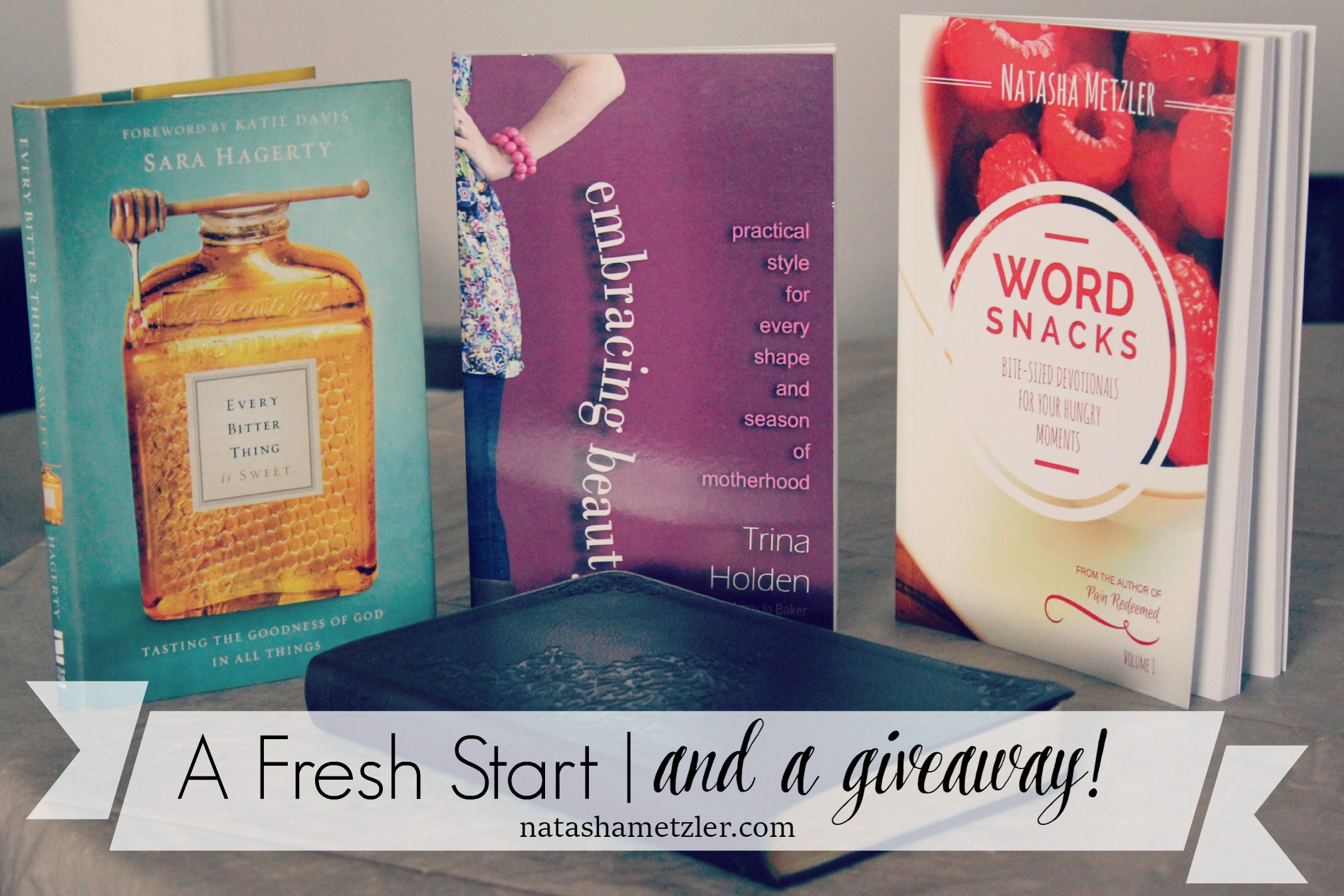 A fresh start  and a giveaway!