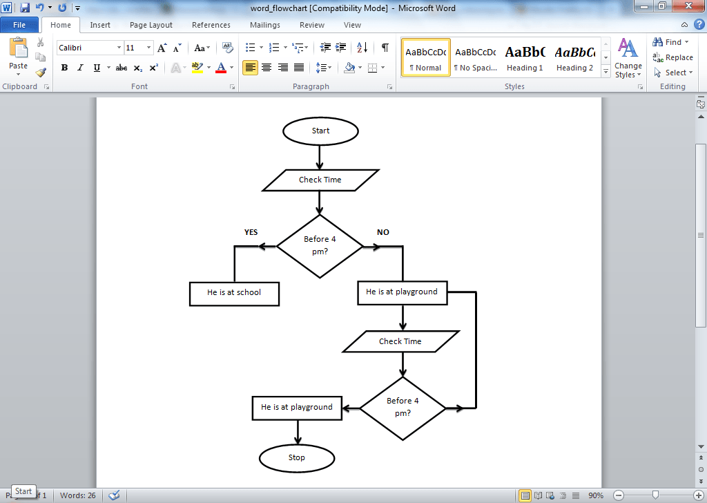 Microsoft Word Flowchart Template Demirediffusion