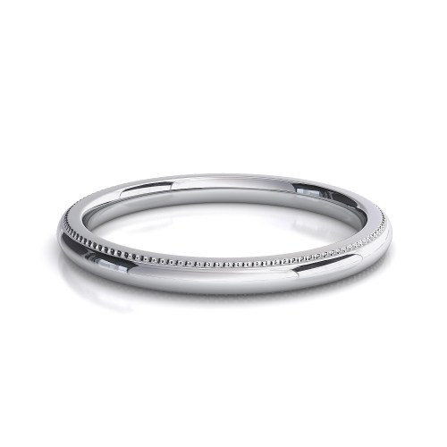 millgrain edge wedding band white gold wedding band