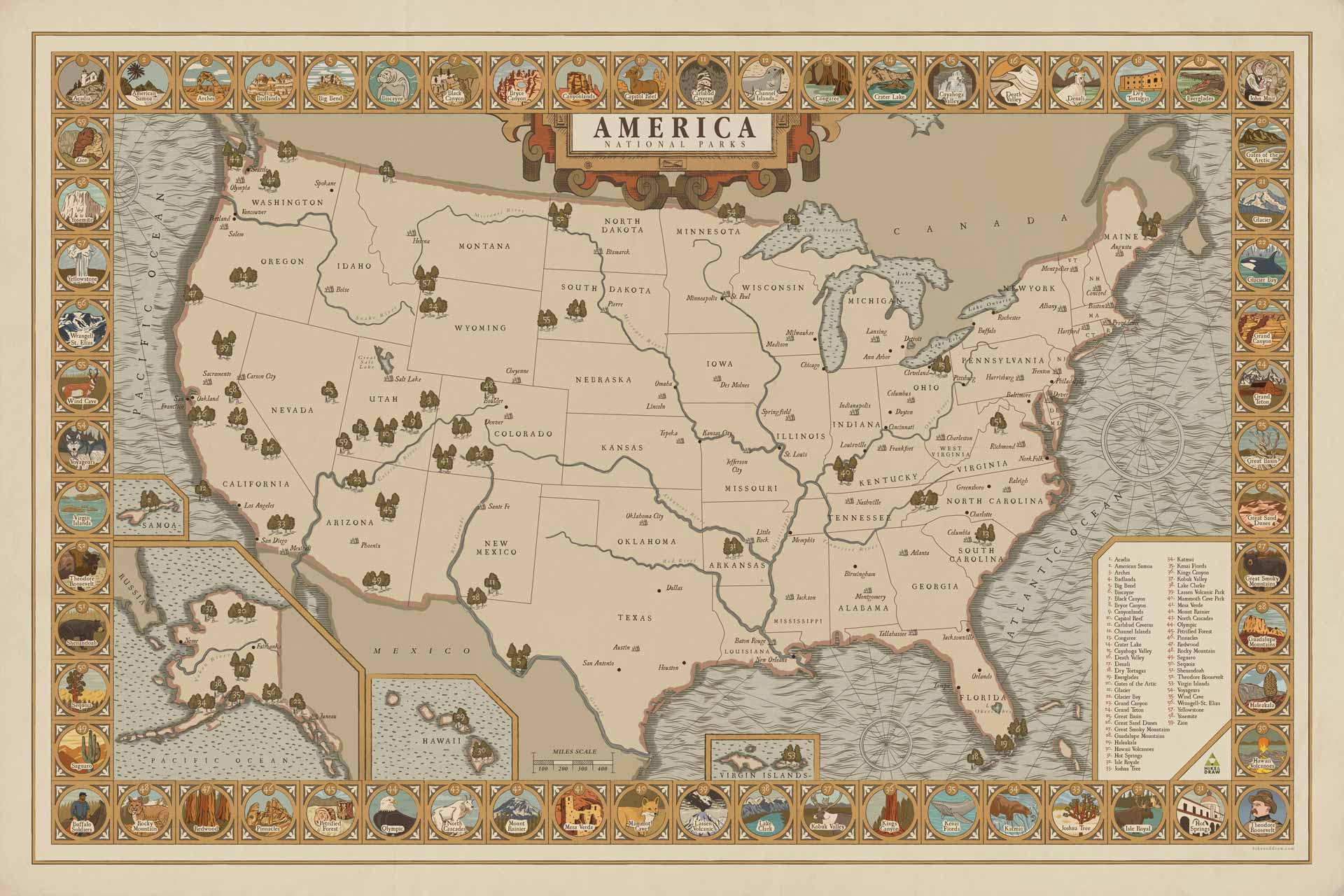 About NATIONAL PARK QUEST - National park map of the us