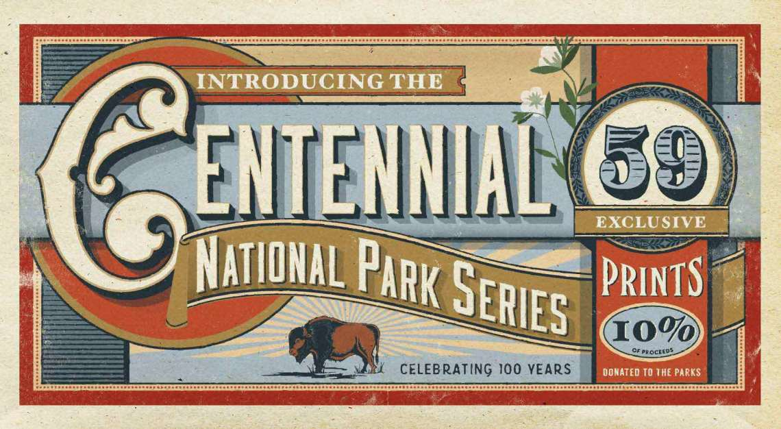 1_Centennial_poster_series_hike_and_draw
