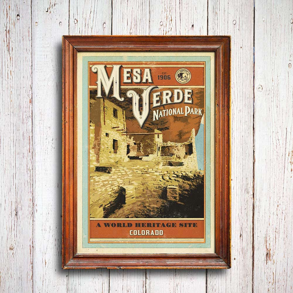 Visit our shop to view details about the Mesa Verde Poster, inspired in the park and a portion of proceeds given back.