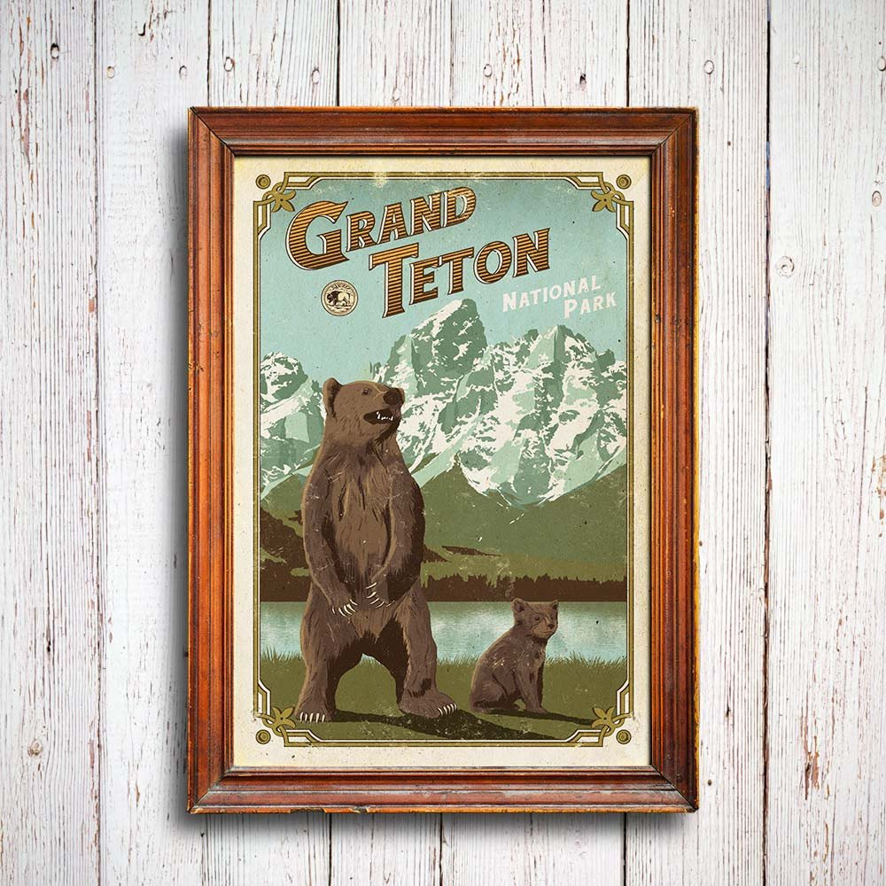Enjoy the memory of the Tetons and wildlife with our latest Centennial Poster.