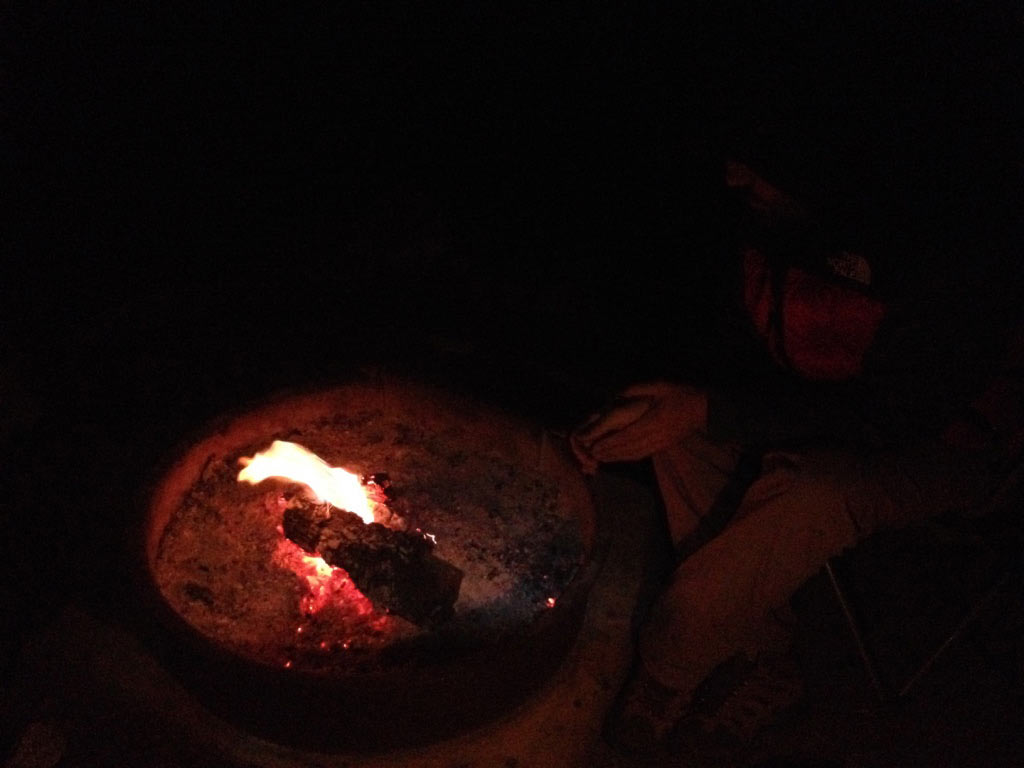 ...And making campfires way less than we planned to. The days get late, and we get too tired.