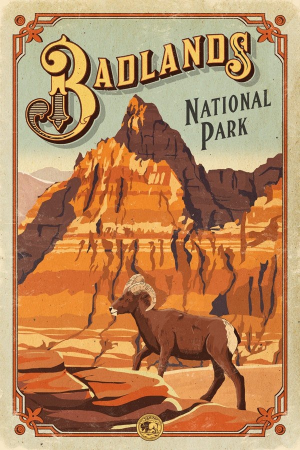 the_art_of_badlands_national_park_poster_centennial