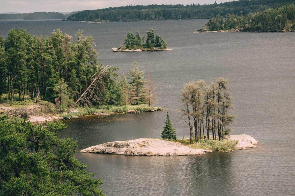 Islands in a bay of Rainy Lake