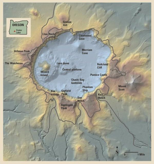 five_sense_of_crater_lake_national_park_map
