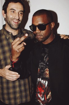Wannabe Bad-Ass Ghetto Street Gangster Rapper Kanye West (R) Seen in Happier Times With Lover Riccardo Tisci
