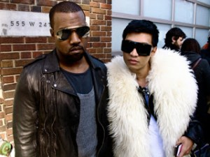 "Kanye West (L) Photographed With ""Bryanboy"" Gay Fashion Critic"