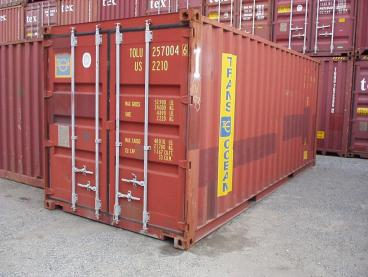 This shipping container containing PS4s was broken into.