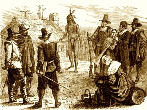 Squanto Betrays His People at Plymouth Rock