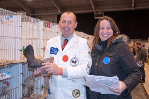 Adrian Knaggs and Nicky Demain judging Dutch