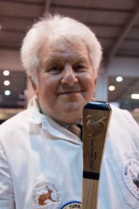 Colin Clarke with personalised hand carved judging stick 2