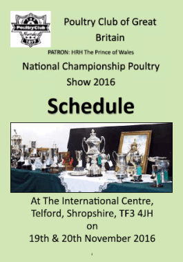 National Show 2016 - Schedule Cover