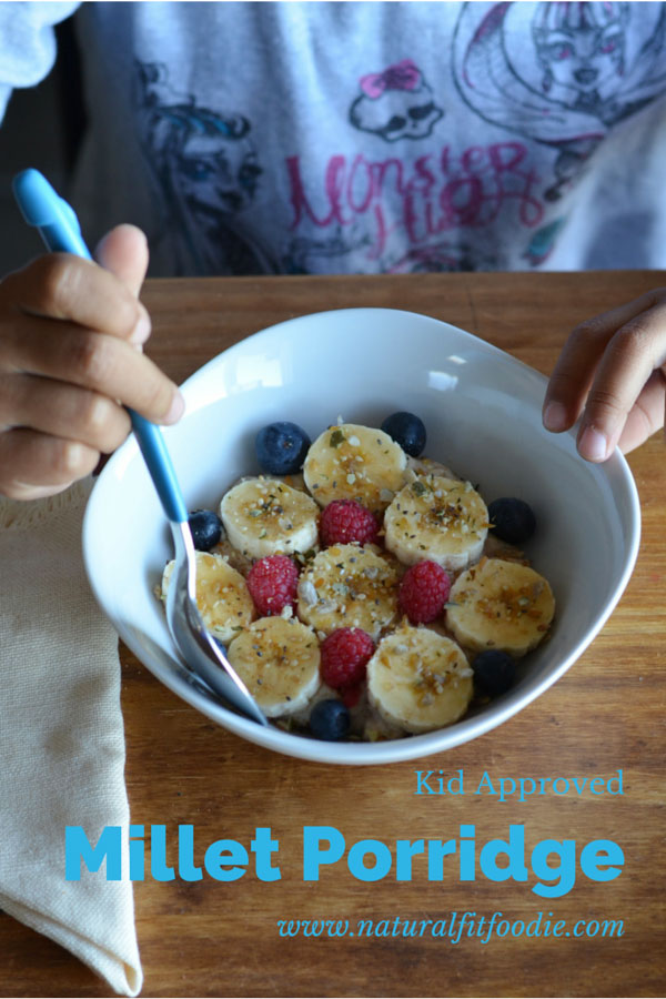 Millet Porridge by Natural Fit Foodie - featured at Natural Family Friday