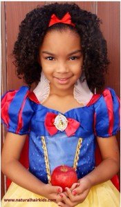 Curly hair snow white costume for kids