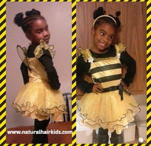 bumble bee costume natural hair kids