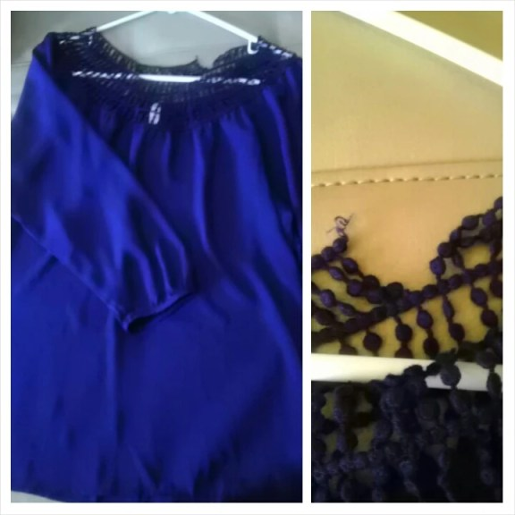 Blouse, cobalt, Thrifty Thursday, Thrift, Fashion, Fashionista, Goodwill, Naturally Stellar, Spring, Deal