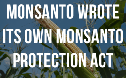 monsanto wrote protection act
