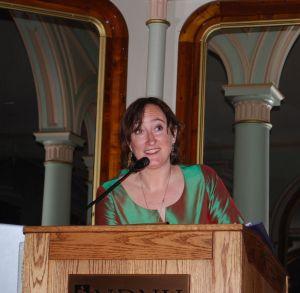Miranda Loud, speaker in Social and Environmental Justice at Notre Dame de Namur University, CA, March 2011