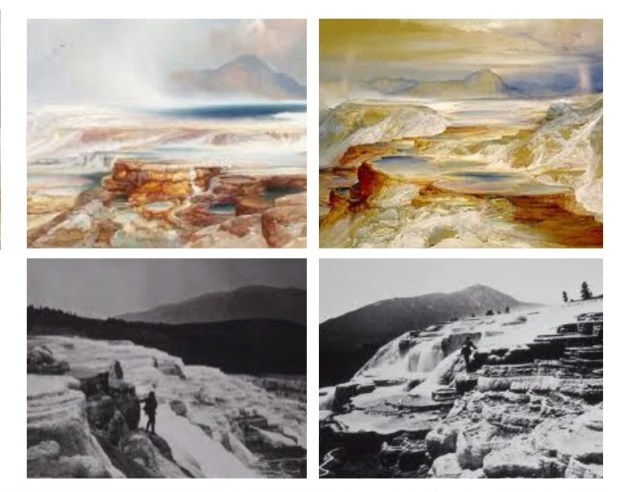 Moran's Water Colours and Jacksons photography of Mammoth.