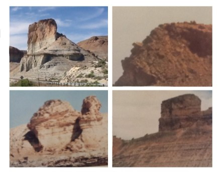 From top right, Tollgate Rock, Mans Face Rock, Camel Rock, Castle Rock